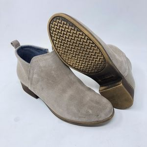 Toms Deia Ankle Booties Desert Taupe Suede
